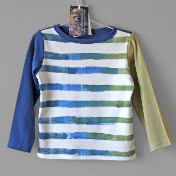 Smukie | Children | Clothing | T-shirt for boy. Organic cotton. Hand painted. Long sleeve - Handmade Emporium