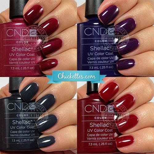 Cnd Shellac Winter Colors Shellac Nail Colors Gel Nails