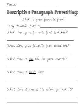 Need help writing a descriptive paragraph?