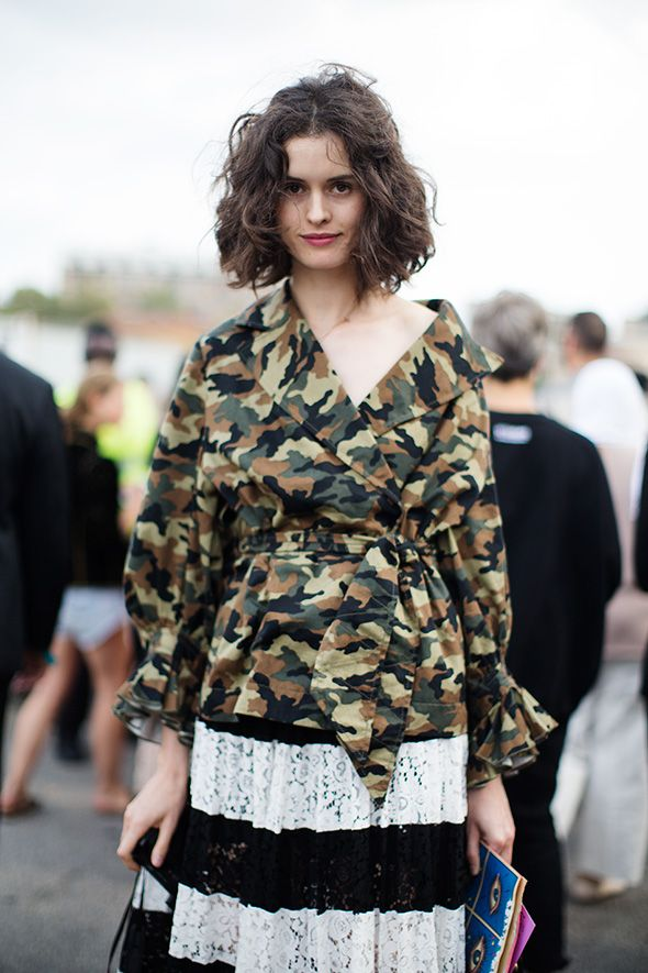 On the Street…Camo & Good Hair, Milan « The Sartorialist