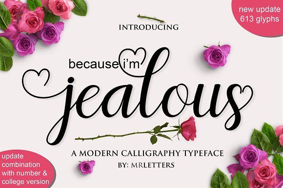 Jealous Script by MrLetters on @creativemarket