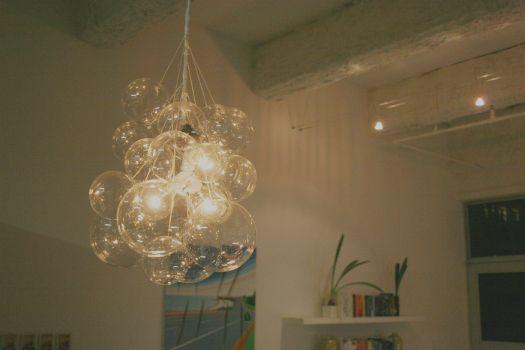 Bubble chandelier: Lighting Idea, Crafts Rooms, Diy'S Crafts, Lighting Fixtures, Bubbles Chandeliers, Diy'S Projects, Diy'S Lighting, Diy'S Glasses, Diy'S Bubbles