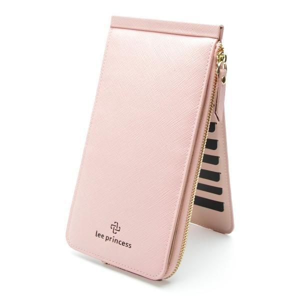 26 Card Holder Phone Bag Coin Female Purse Long Leather Wallet For Women Clutch Handy Wristlet Slim Ladies Wallets Girls Vallet