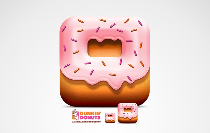 Amazing.. Dunkin Donuts App icons