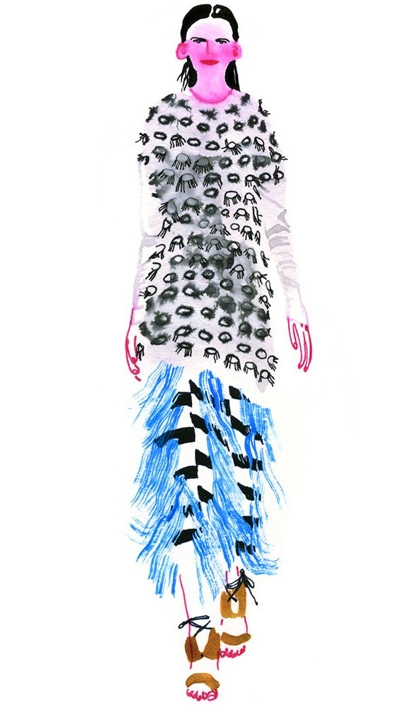 Lauren Tamaki illustration / Thakoon S/S 15