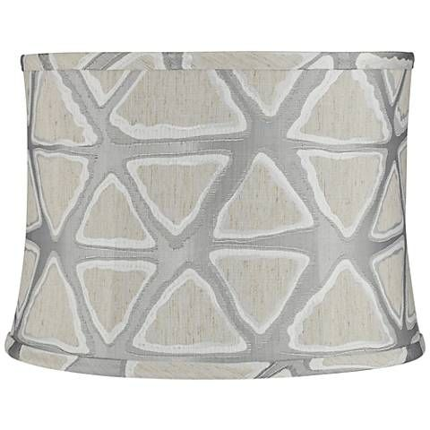 Dubumba Triple-Gray Triangle Tribal Drum Lamp Shade (Spider)