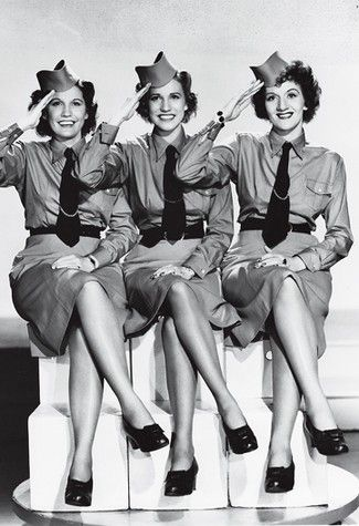 "The Andrews Sisters . . . In the 1940s the Andrews sisters ""found themselves in high demand, and became the most profitable stage attraction in the entire nation, earning $20,000 a week"" . . . releasing eight new singles to include 'Boogie Woogie Bugle Boy', 'Rum and Coca Cola' and 'I'll be with you in Apple Blossom Time'"" (The Andrews Sisters website:  http://www.cmgww.com/music/andrews/about/bio2.html)"
