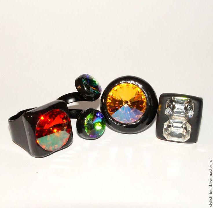 """Купить Кольцо """"Сияние"""" - комбинированный, кольцо, колье ручной работы, кольцо с крупным камнем"""