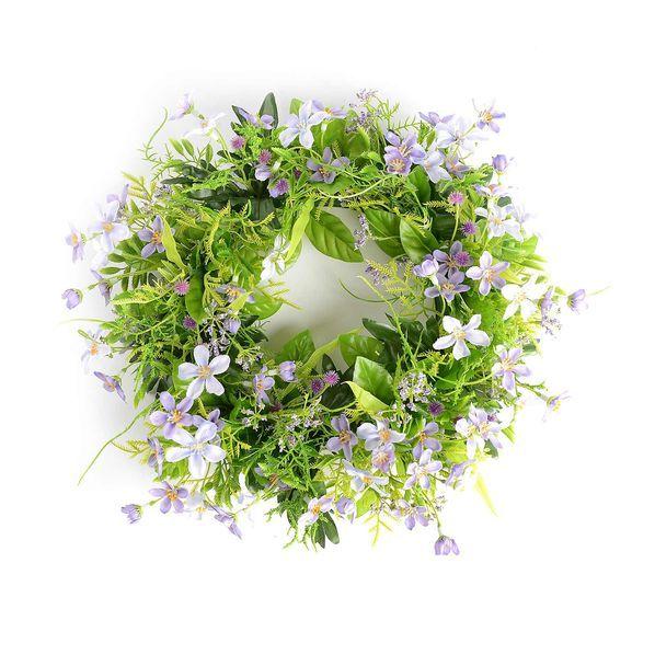Blumenkranz, D: 30cm, lilac, lilac
