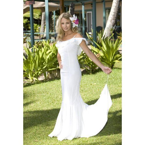 3f1bb06f5f2 Queen Kaahumanu Hawaiian Wedding Holoku - Laua`e Collection Beach Wedding  Dress