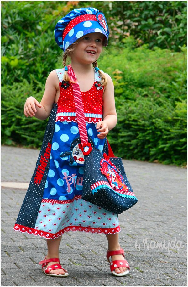 Namijda: Bonnie The Pirate♥ Love the mix of fabrics in the dress. #SewforGirls inspiration #Dresses