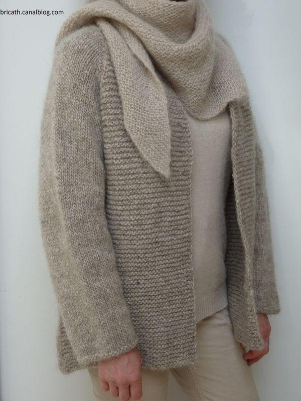 Mon Fall Coat, c'est le mariage d'un modèle norvégien avec une laine islandaise, une jolie façon de réunir deux pays qui m'ont marquée... ...