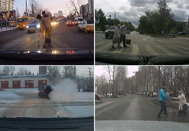 É prática comum na Rússia ter câmeras nos painéis dos carros, por questões de segurança - para tirar dúvidas de questões relacionadas ao seguro, por exemplo. Ao longo do tempo, essas câmeras já captaram momentos entre o bizarro e o assustador (ainda mais se tratando da Rússia). Mas um vídeo juntou alguns momentos de compaixão entre pedestres e motoristas para restaurar a nossa fé na humanidade. Dentre as cenas coletadas, há flagrantes de pessoas pulando para fora de seus carros paraajudar…