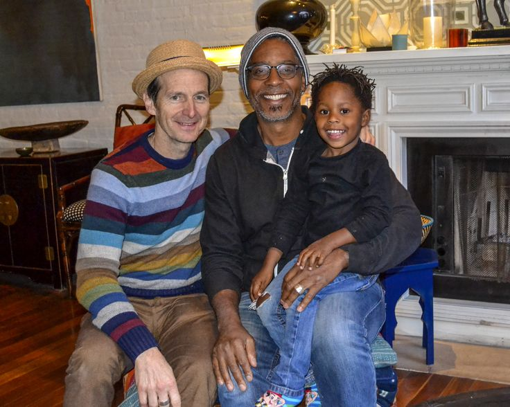 Denis O'Hare and husband - Hugo Rosewood and their son ...