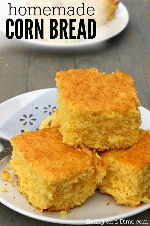 Homemade cornbread, Cornbread recipes and Cornbread on Pinterest
