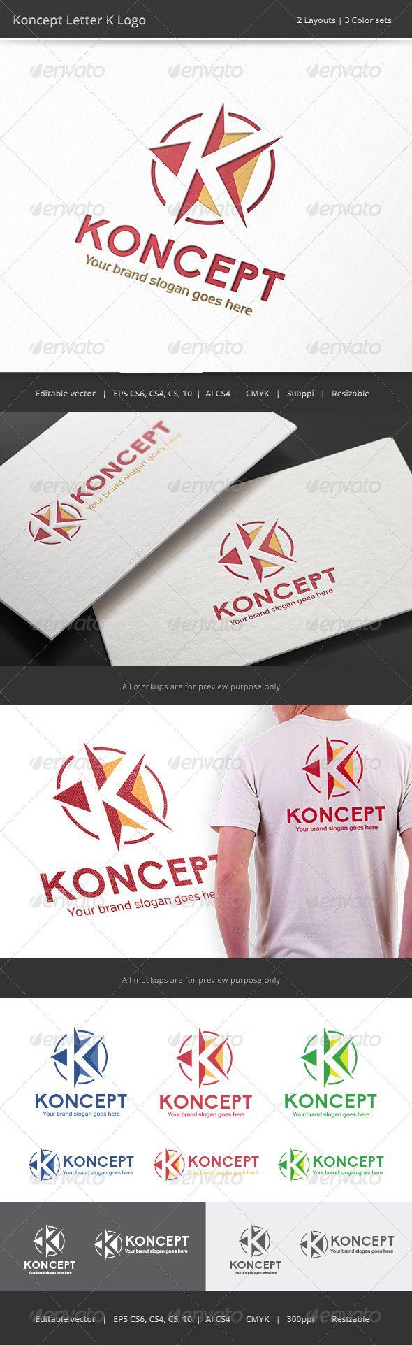 Koncept Letter K Logo K logos, Circle logos inspiration