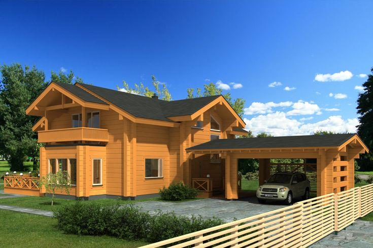 M s de 1000 im genes sobre casas de madera en pinterest - Casa prefabricada ecologica ...
