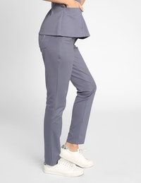 The Contrast Ponte Pant - Graphite