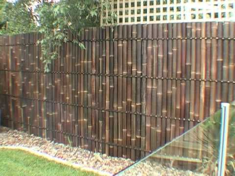 how to cover old fence | diy guide for bamboo panel fence installation guide. palm place ...
