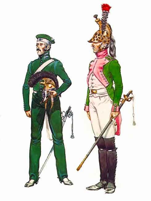 Ufficiale della guardia d'onore e dragone del 1 rgt. dragoni