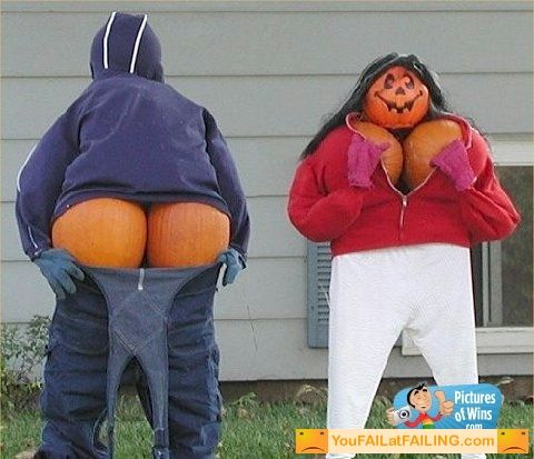 Funny Pumpkin Scarecrows