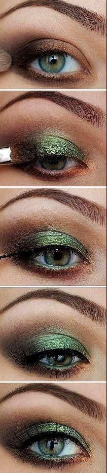 Green for green eyes   #makeup #maquillage