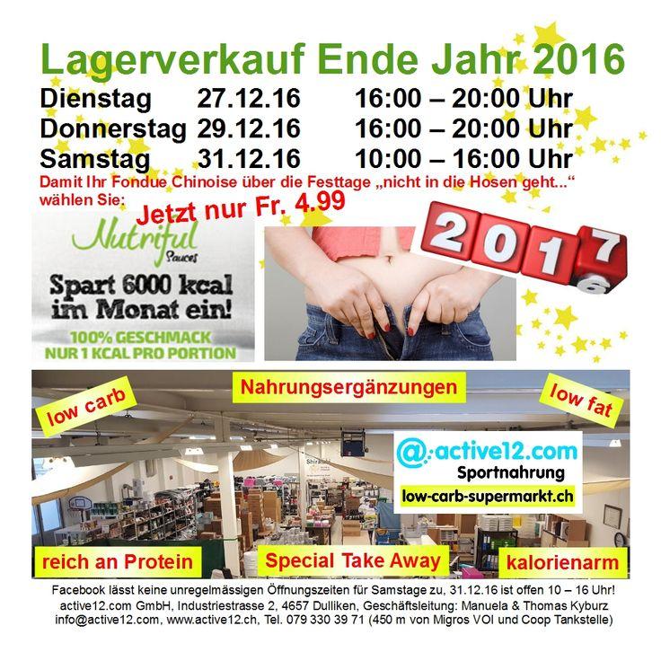 GRATIS* im Lagerverkauf Dulliken vor Neujahr: Heute Do 16 – 20 Uhr und Sa 31.12. 10 – 16 Uhr * 1 Flasche 'Weissen' siehe www.active12.ch #Lagerverkauf #Sylvester #Neujahr #2017 #2016 #gratis #Geschenk #Figur #Fitness #Muskelaufbau #Bodybuilding #abnehmen #lowcarb #lowfat #Dulliken #Olten #active12 ►►► Lagerverkauf: http://www.active12.ch/info/Oeffnungszeiten.html