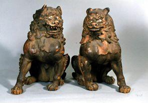 重要文化財 狛犬の写真