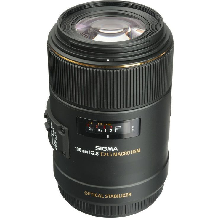 Sigma 105mm f/2.8 EX DG OS Macro Lens for Canon