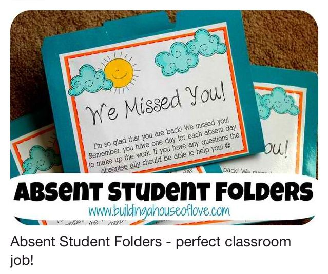 Absent Folders; to make sure they are caught up.