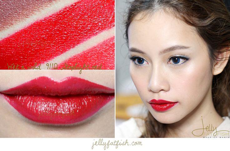 Lipstick, Wet n Wild, 911D Stoplight Red, Swatch, Mega ...