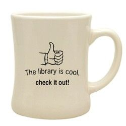 The library really IS cool! Fun little mug for the library lover in your life. #gift