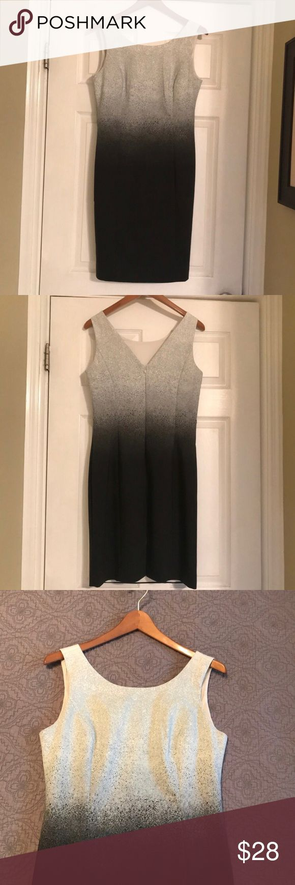 """♥️Super cute BANANA REPUBLIC Dress size 6 ♥️ Super cute sleeveless Banana Republic dress in size 6. Excellent condition. Second to last pic is just to give you a close up of the pattern. Dress is white, gray, and black. Has round neck and V cut in the back. Very flattering!! It has a hidden zipper up the back and is fully lined. Doesn't have any snags, tears, or pilling. Dress is 52% cotton, 45% polyester and 3% spandex. Measurements taken while lying flat: 17"""" bust, 15"""" waist, 18"""" hips, and…"""