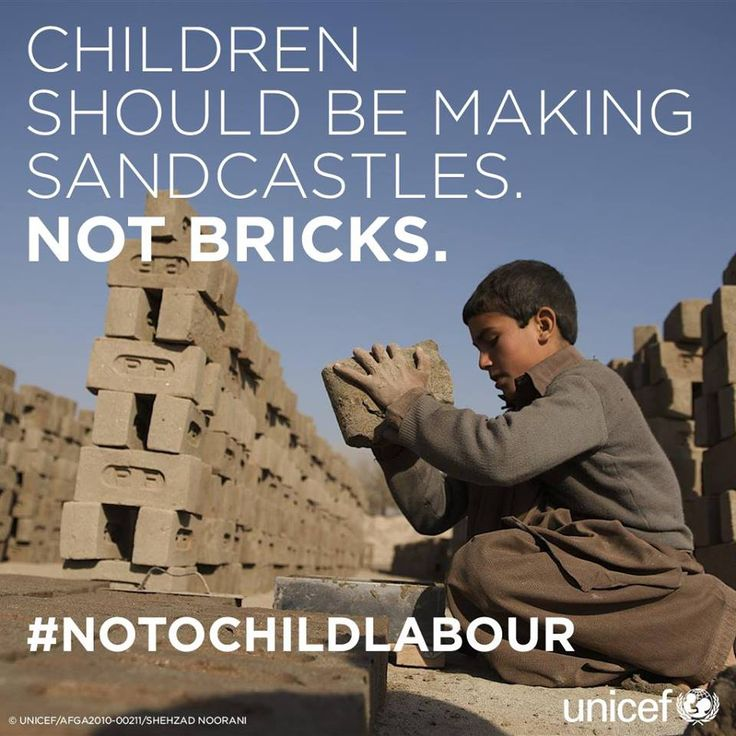 The good news: the number of child labourers has fallen by a third since 2000.   The bad news: 168 million boys and girls are still losing their childhoods by being forced to toil all day in adult jobs - AND, over half of them are in hazardous work.   #notochildlabour!   Video: http://youtu.be/VbkAoppuUwc Info: http://www.unicef.org/crc/index_30160.html