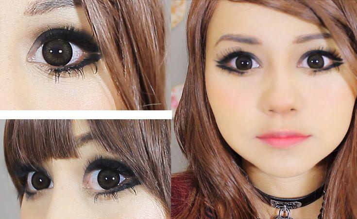 maquillaje ojitos grandes y rasgados con mucha pestaña ♥ miku ...