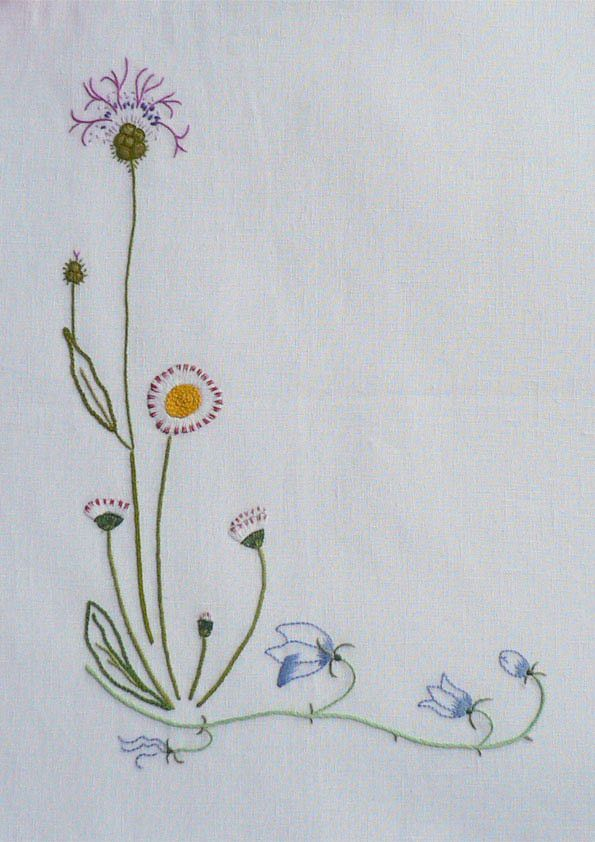 Field flowers alphabet - L | The French Needle | French Needlework Kits, Cross Stitch, Embroidery, Sophie Digard