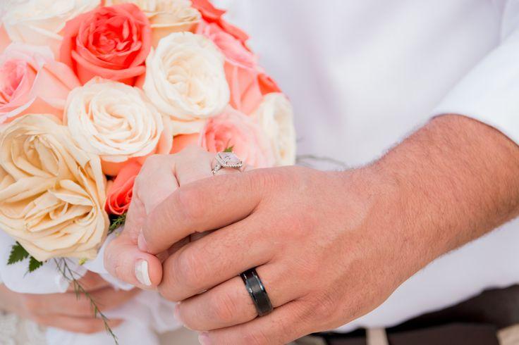 Morganite wedding ring .