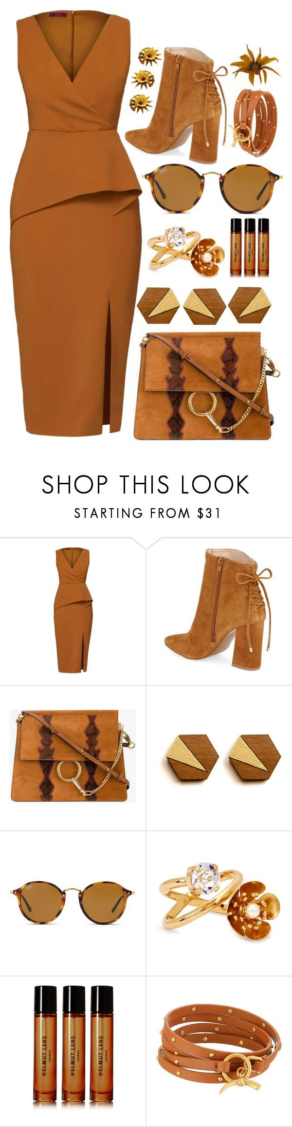 """Untitled #1935"" by sunnydays4everkh ❤ liked on Polyvore featuring WtR, Kristin Cavallari, Chloé, Ray-Ban, CA&LOU, Helmut Lang and Tory Burch"