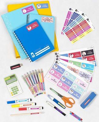 El Pack Utiles te brinda una solución práctica, divertida y rápida de marcar todos los útiles, cuadernos y folders de tus hijos