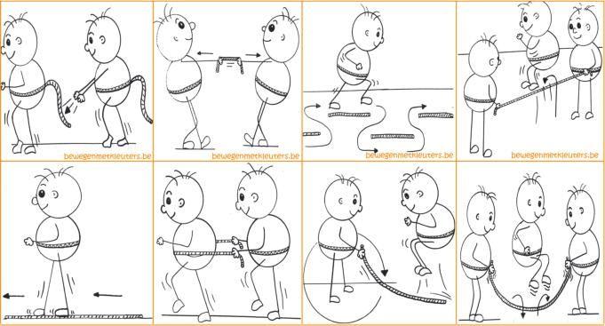 Bewegen met kleuters - Oefenvormen Touw