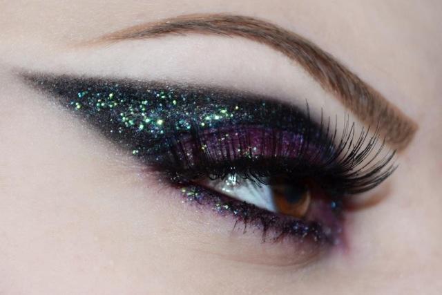 black and purple glitter #eye #makeup