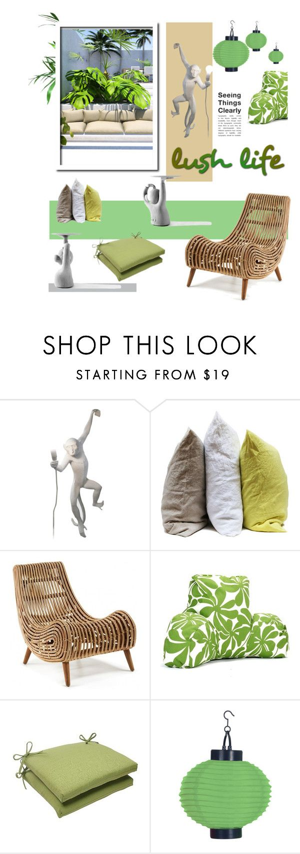 """Tropical Concrete Jungle"" by fl4u ❤ liked on Polyvore featuring interior, interiors, interior design, home, home decor, interior decorating, Seletti, Hawkins, Jaime Hayon and Majestic Home Goods"