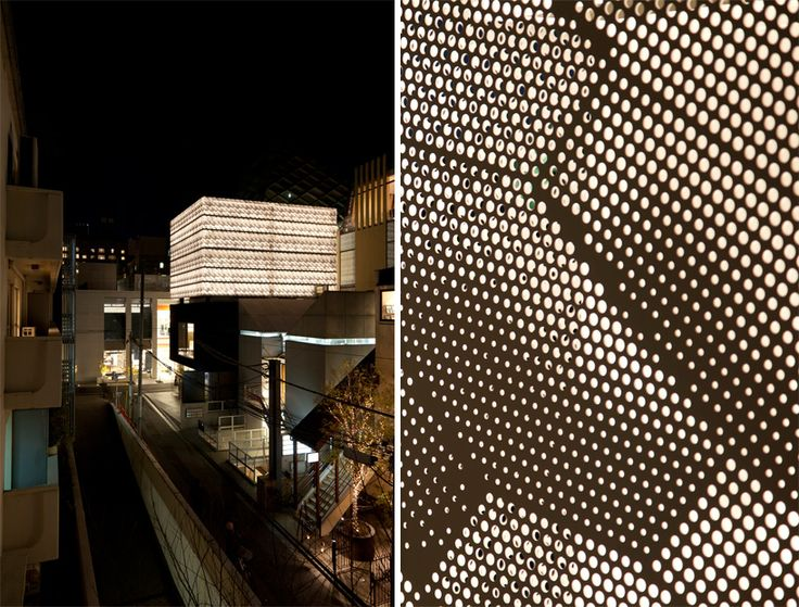 marc jacobs tokyo flagship store | perforated cladding detail