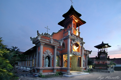 catholic church in canggu bali indonesia