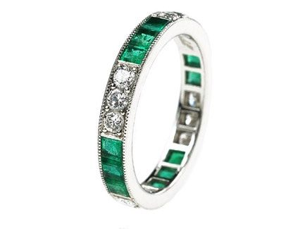 platinum large calibre emerald and round diamond eternity ring us 65 available in all finger emerald eternity ringemerald wedding ringsemerald