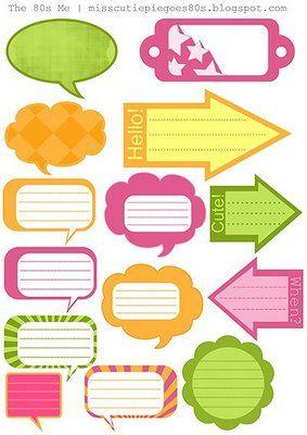 ♥ Miss Cutiepie Inspiration - Freebies & Inspiration ♥: :: Scrapbook Goodies - Journaling Bubblor ::