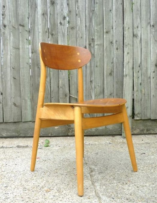 Alf Svensson; Teak and Oak Side chair for Hagafors, 1950s.