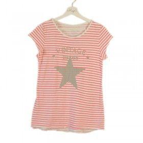 Camiseta vintage de rayas rojas y estrella