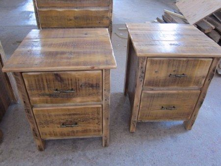 Love - barn wood end tables - old barn wood furniture