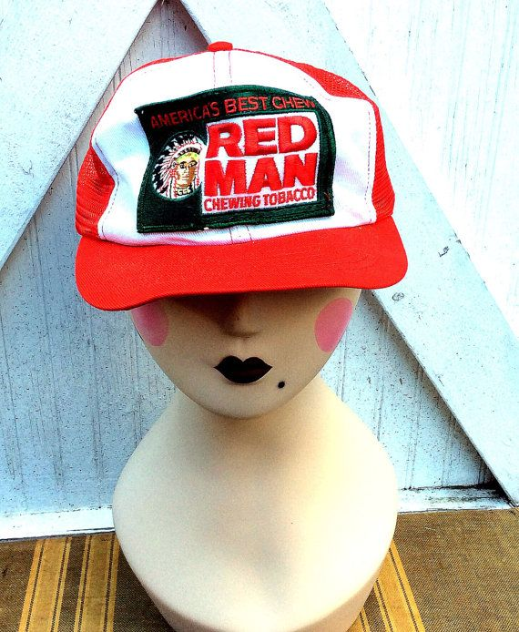 Vintage Estate Red Man Chewing Tobacco Patch Mesh by MADVintology
